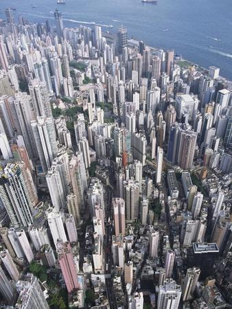 Aerial View of Western District of Hong Kong