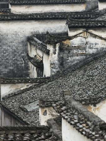 Tiled roof in Xidi, China