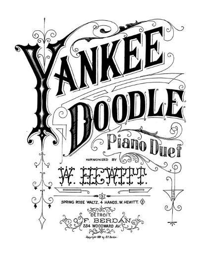 Yankee Doodle, Patriotic American Song, Piano Duet Harmonized by W  Hewitt,  Sheet Music, 1881 Photo by | Art com