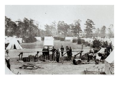 Yankee Headquarters, Camp Whinfield, 3rd May 1862-Mathew Brady-Giclee Print