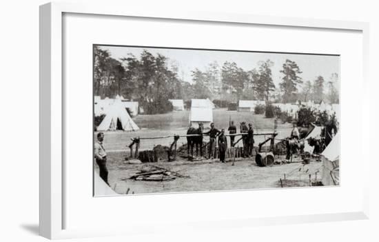 Yankee Headquarters, Camp Whinfield, 3rd May 1862-Mathew Brady-Framed Giclee Print