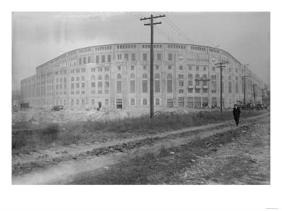 Yankee Stadium Baseball Field Photograph - New York, NY-Lantern Press-Art Print