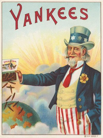 Yankees, Outer Cigar Box Label, Printed by Hermann Shott, C.1912--Giclee Print