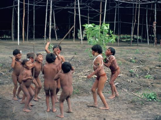 Yanomami Children, Brazil, South America-Robin Hanbury-tenison-Photographic Print