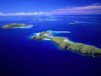 Yanuya Island on Right and Tavua Island on Left, Fiji-David Wall-Photographic Print