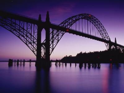 Yaquina Bay Bridge, Newport, Oregon, USA--Photographic Print