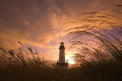 Yaquina Head Lighthouse at Sunset-Craig Tuttle-Photographic Print