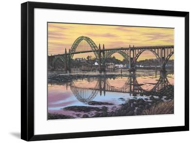 Yaquina Reflections-Palmer Artworks-Framed Giclee Print