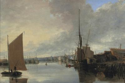 Yarmouth Harbour - Evening-John Crome-Giclee Print