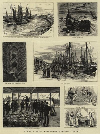 Yarmouth Illustrated, the Herring Fishery--Giclee Print