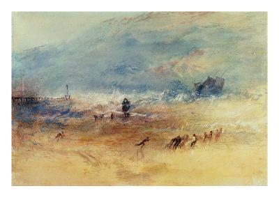 Yarmouth Sands, C.1840 (W/C on Paper)-J^ M^ W^ Turner-Giclee Print