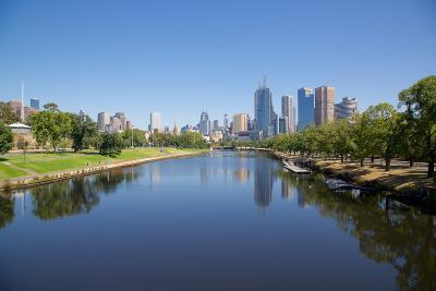 Yarra River and City Skyline, Melbourne, Victoria, Australia, Pacific-Frank Fell-Photographic Print
