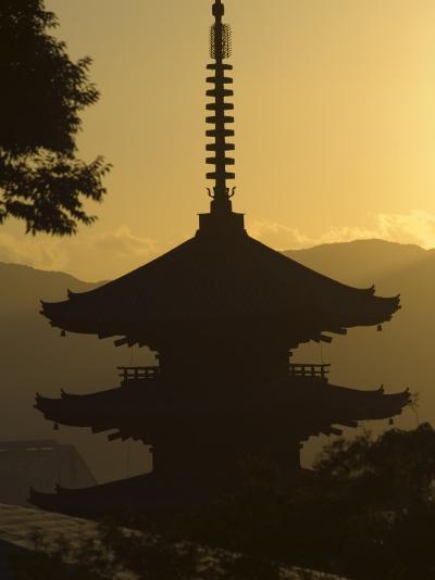 Yasaka No to Pagoda, Higashiyama, Eastern Hills, Sunset, Kyoto, Japan-Christian Kober-Photographic Print