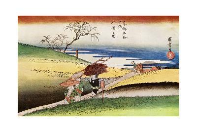 Yase No Sato' ('Peasants Going Home at Yase), C1833-1834-Ando Hiroshige-Giclee Print