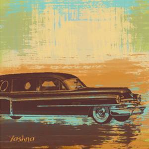 Brown Retro Car I by Yashna