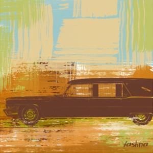 Brown Retro Car II by Yashna