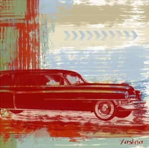 Red Abstract Car by Yashna