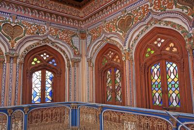 The Beautiful Woodwork in Chiniot Palace in Pakistan