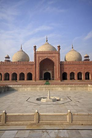 View of Badshahi Masjid, One of the Biggest Mosques in the World