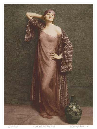 Yasmin, Portrait - Classic Vintage French Nude - Hand-Colored Tinted Art-Albert Henry Collings-Art Print