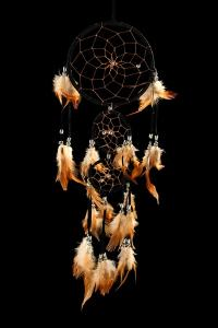 Beautiful Dream Catcher On Black Background by Yastremska