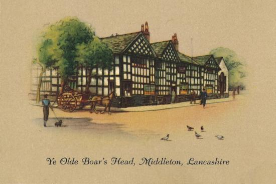 'Ye Olde Boar's Head, Middleton, Lancashire', 1939-Unknown-Giclee Print