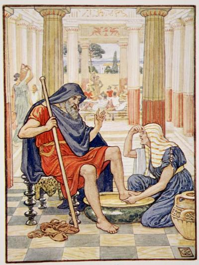 Yea, Verily, Thou Art Odysseus', Illustration from the Story of Greece by Mary Macgregor-Walter Crane-Giclee Print