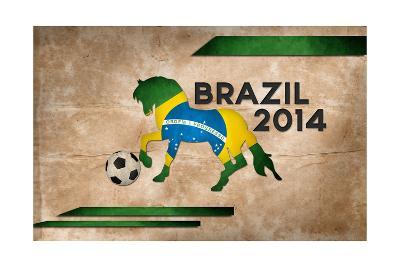 Year Of Football And Horse Of Brazil 2014-NatanaelGinting-Art Print