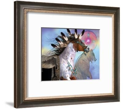 Year of the Bear Horse--Framed Art Print