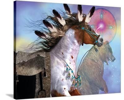 Year of the Bear Horse--Stretched Canvas Print