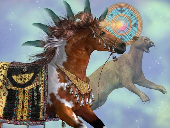 Year Of The Cougar Horse-Corey Ford-Art Print