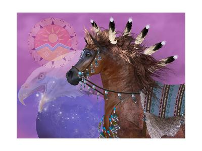 Year Of The Eagle Horse-Corey Ford-Art Print