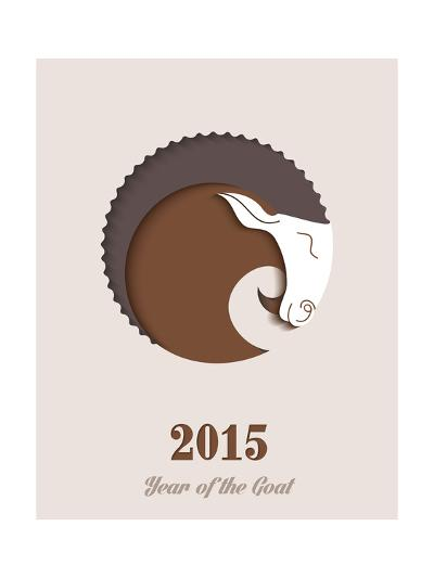 Year of the Goat - 2015-cienpies-Art Print