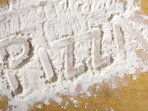 The Word 'PIZZA' Written in Flour by Yehia Asem El Alaily