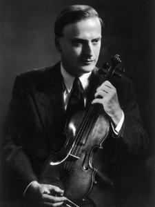 Yehudi Menuhin Violinist as a Young Man