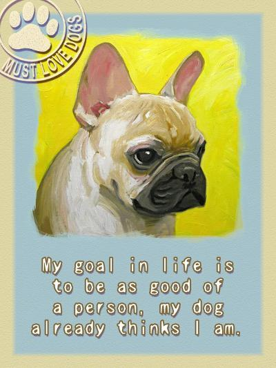 Yelloe French Bulldog-Cathy Cute-Giclee Print