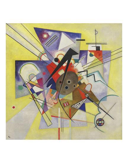 Yellow Accompaniment, February-March 1924-Wassily Kandinsky-Art Print