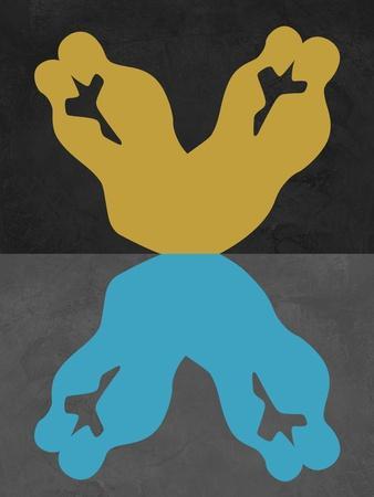 Yellow and Blue Kiss-Felix Podgurski-Art Print