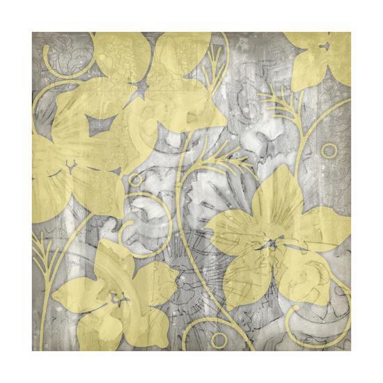 Yellow and Gray I-Jennifer Goldberger-Art Print