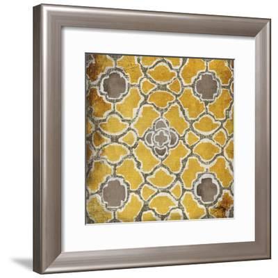 Yellow and Gray Modele I-Elizabeth Medley-Framed Art Print