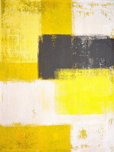 Yellow and Grey Abstract Art Painting-T30 Gallery-Photographic Print