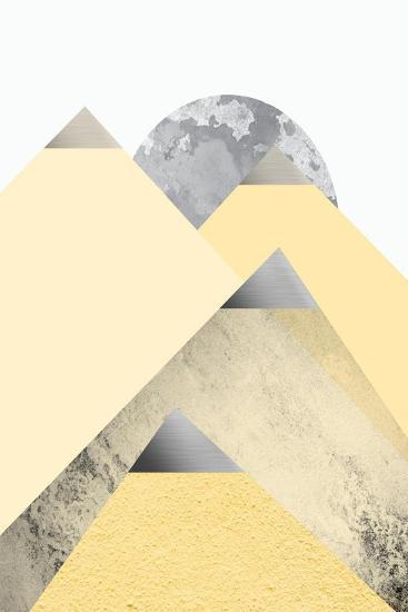 Yellow and Grey Mountains 2-Urban Epiphany-Art Print