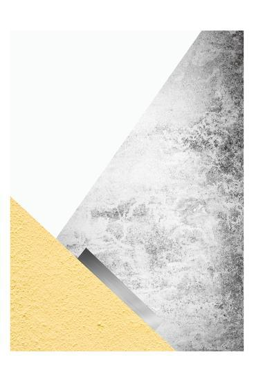 Yellow and Grey Mountains 3-Urban Epiphany-Art Print