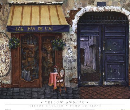 Yellow Awning-Viktor Shvaiko-Art Print