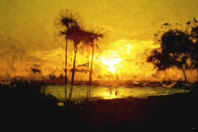Yellow Beach - In the Style of Oil Painting-Philippe Hugonnard-Giclee Print
