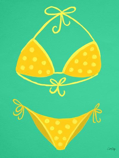 Yellow Bikini Mint-Cat Coquillette-Giclee Print