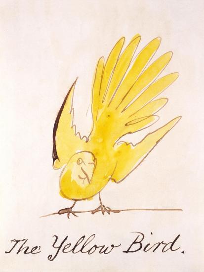 Yellow Bird-Edward Lear-Giclee Print