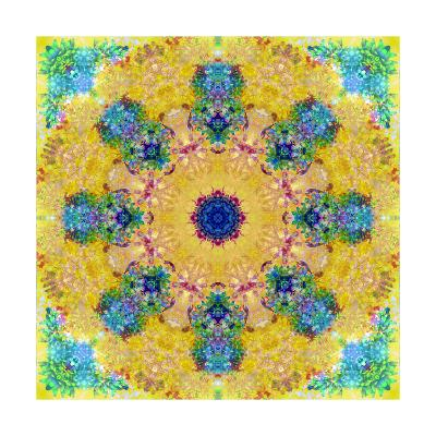 Yellow Blossom Mandala-Alaya Gadeh-Art Print