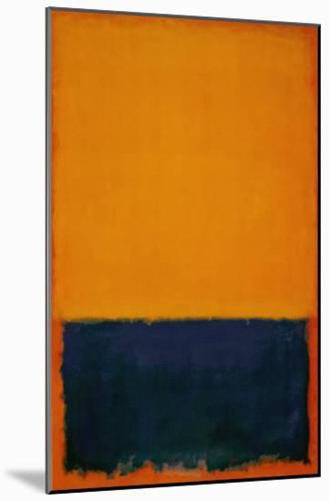 Yellow, Blue, Orange, 1955-Mark Rothko-Mounted Art Print