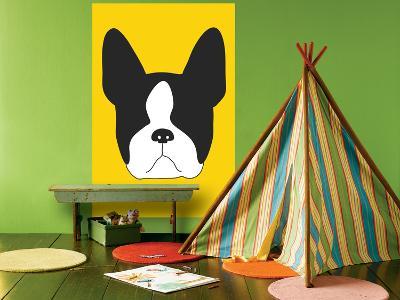 Yellow Boston Terrier-Avalisa-Giant Art Print